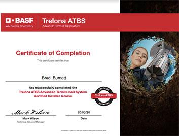 basf trelona certificate